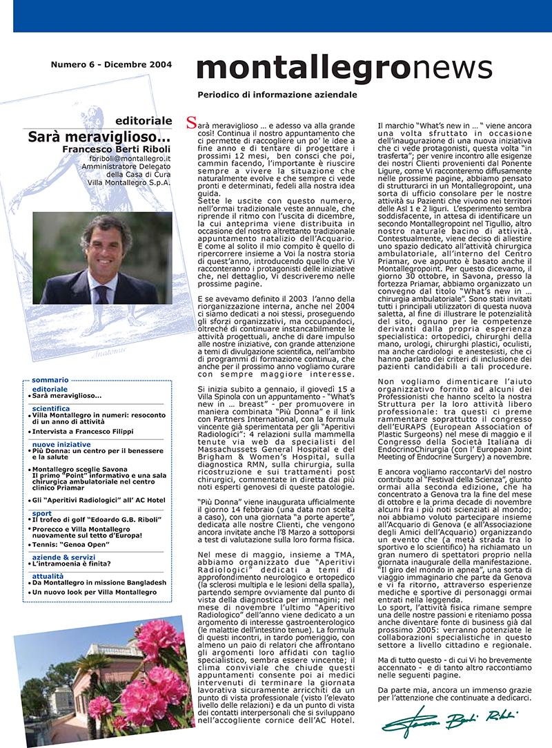 Montallegronews n.6-2004